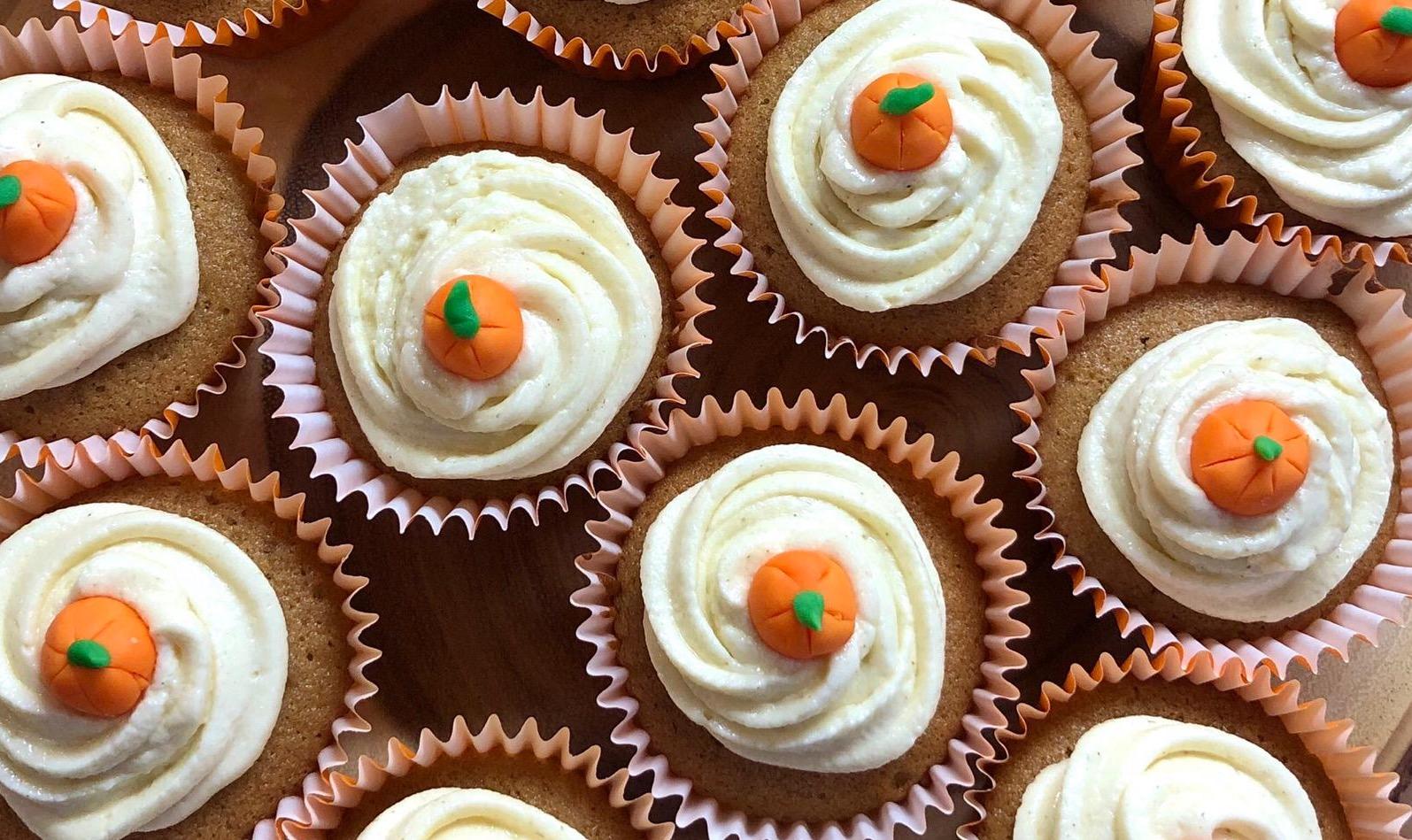 Cupcakes d'automne à la citrouille